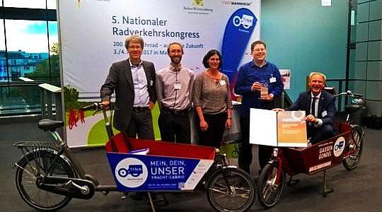 TINK gewinnt beim Deutschen Fahrradpreis 2017 einen ersten Platz